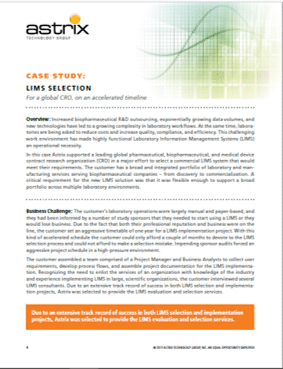 Case Study - LabWare Implementation