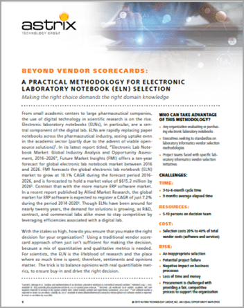 Astrix White Paper - Electronic Lab Notebook Selection