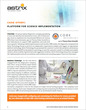 Case Study - Core LIMS Implementation
