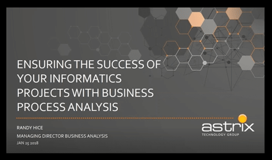 Webinar:  Ensuring the Success of Your Informatics Projects with Business Process Analysis