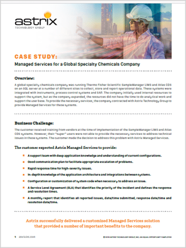 Case Study:  Managed Services for a Global Specialty Chemicals Company