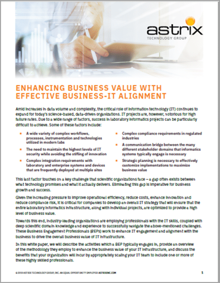 White Paper - Business and IT Alignment in the Lab