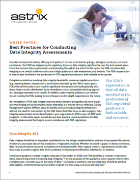 White Paper - Best Practice for Data Integrity Assessement