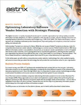 White Paper - Optimizing Lab Software Vendor Selection