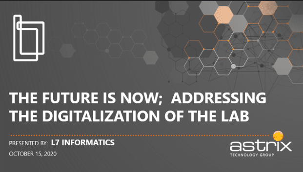 The Future is Now; Addressing the Digitalization of the Lab