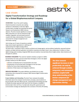 Digital Transformation Strategy for a Global Biopharmaceutical Company
