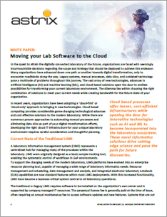 Moving your Lab Software to the Cloud