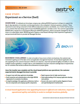 Case Study - Biovia - Experiment as a Service