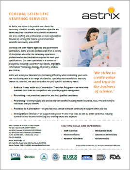Government Scientific Staffing Solutions