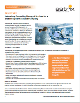 CASE STUDY: Laboratory Computing Managed Services for a Global Biopharmaceutical Company