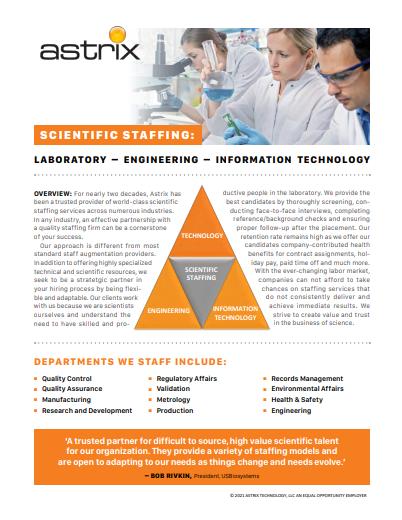 Scientific Staffing Services