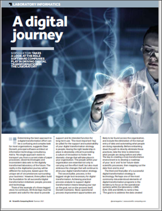 Scientific Computing World - A Digital Journey