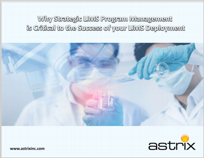 eBook - Why Strategic LIMS Program Management is Critical to the Success of your LIMS Deployment